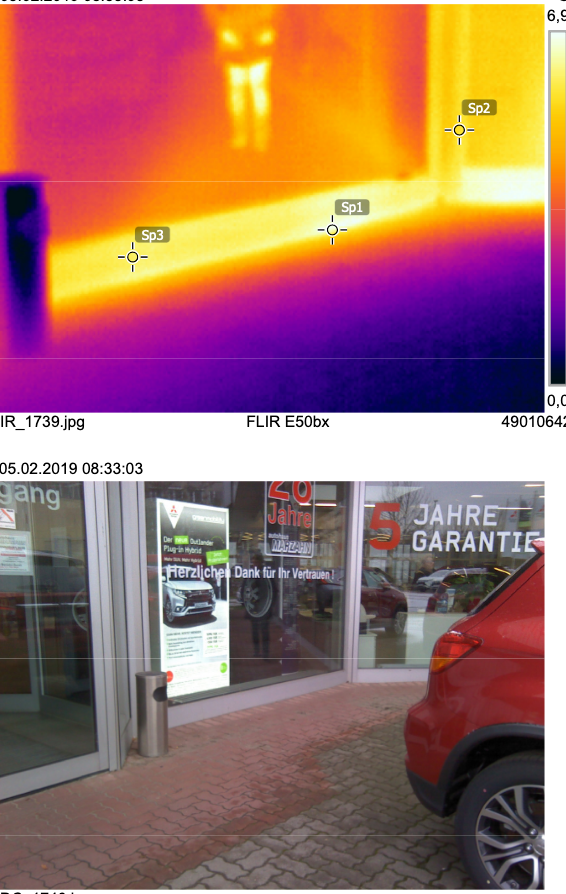 Aufnahme einer Wärmebildkamera